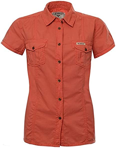 Front SwitchMan Camisa de mujer missi sipi – Verano – Safari, Urban Ropa, manga corta – 100% algodón – tamaño S, L, XL, XXL – Sandy Brown, color naranja naranja xx-large: Amazon.es: Ropa y accesorios