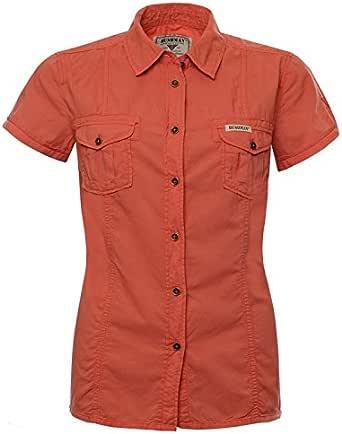 Front SwitchMan Camisa de mujer missi sipi – Verano – Safari, Urban Ropa, manga corta – 100% algodón – tamaño S, L, XL, XXL – Sandy Brown, color naranja naranja xx-large: Amazon.es: Ropa y accesorios