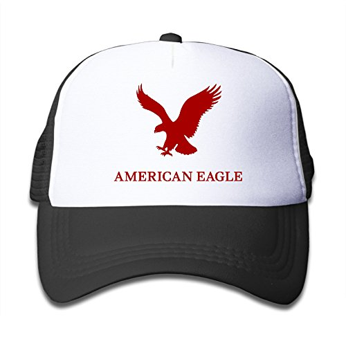 children-american-eagle-adjustable-snapback-trucker-cap-black-one-size