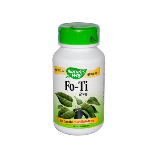 Natures Way Fo-Ti Root Capsule, 610 Mg -100 per pack -- 6 packs per case. by Natures - Fo Capsules Ti 100 Root