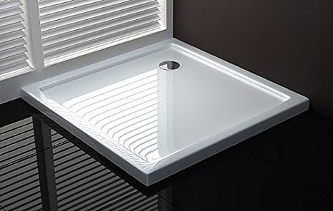 plato de ducha cuadrada 70 x 70 plástico reforzado.: Amazon.es: Bricolaje y herramientas