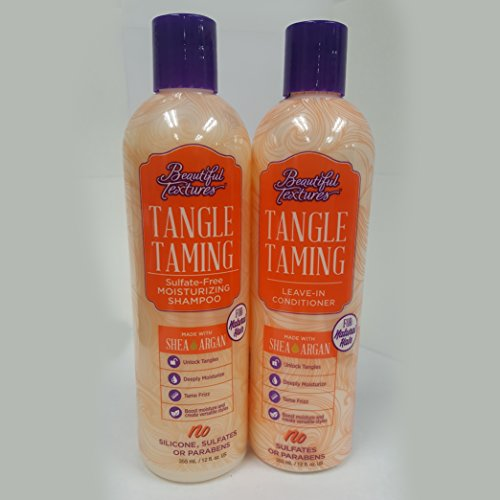 Beautiful Textures Tangle Taming Moisturizing Shampoo 12oz & Tangle Taming Leave In Conditioner 12oz Set by BT