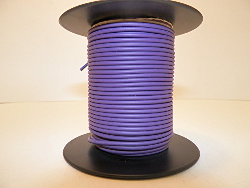 Violet, 18 GA AWG GXL Wire, 100' Spool, For Automotive, Truck, Motorcycle, RV. General Purpose Copper Wire .94 O.D. Abrasion Resistance, High Heat