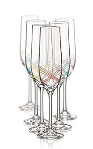 Cristal de Bohemia vasos Model Ellipse Original Bohemia, Sektglas 6 x 190 ml
