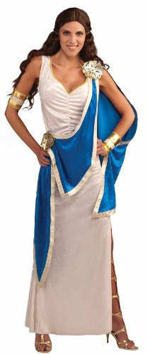 Forum Greek Goddess Costume, Blue/White, (Aphrodite Costume Shoes)