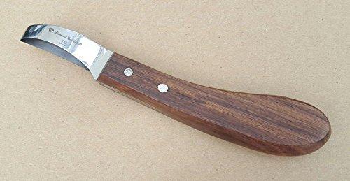 Hoof Knife Loop Oval Farrier Equine Horse Stainless Steel Blade Wooden Handle