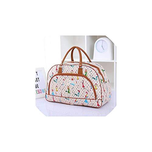 Women Travel Bags Pu Leather Large Capacity Waterproof Print Luggage Duffle Bag,large size3