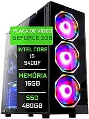 Computador Gamer Fácil Intel Core I5 9400F 16GB DDR4 GeForce GT 730 2GB SSD 480GB