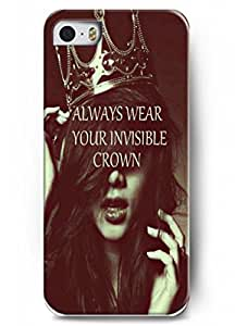 Always wear your invisible crown-Elegant Lady - iphone 5c - hard snap on plastic case - Inspirational and motivational life quotes