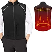 Heated Vest Adjustable One Size Fits All 5 Mode Body Warmer for Winter Heating Clothing Washable USB Interface Ideal Gift for Dad Husband Boyfriend Daily Life Work Bike Riding Drive Ski Hike Golf