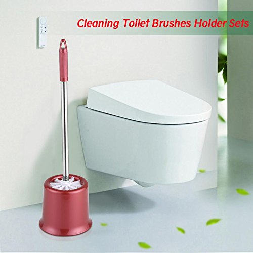 gogil 1 Set Stainless Steel Bathroom Cleaning Toilet Brushes Holder Sets Home Toilet Chrome WC Brush Holder by gogil (Image #4)