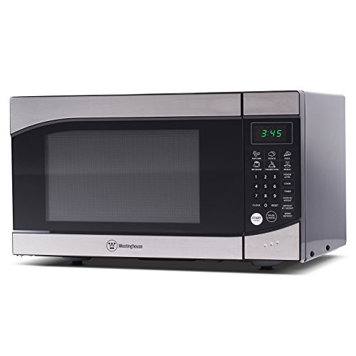Westinghouse WM009, Countertop Microwave Oven, 900 Watt, 0.9 Cubic Feet, Stainless Steel Front, Black Cabinet, Small, Trim from Westinghouse