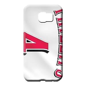 samsung galaxy s6 edge Strong Protect PC stylish phone carrying skins cincinnati reds baseball