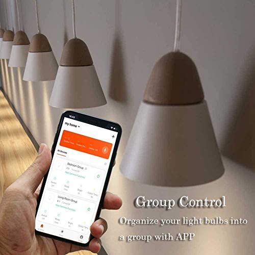 LVYIMAO GU10 RGBW WiFi 5 W LED Smart Leuchtmittel gesteuert durch Smart-Geräte kompatibel mit Amazon Alexa Google Home
