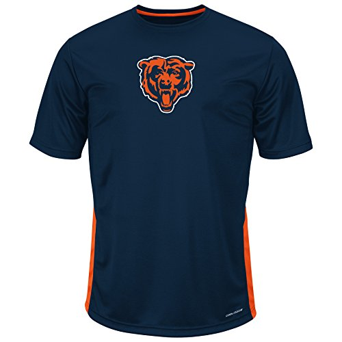 NFL Chicago Bears Adult men NFL Plus S/Pieced Birdseye Crew,2XT,Navy/Orange by Profile Big & Tall