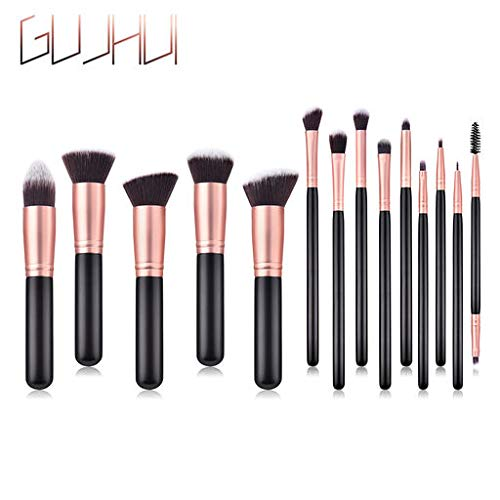 Hennta 14PCS Black Wooden Cosmetic Makeup Brush Foundation Powder Eyeshadow Brush,Beauty is The Nature of Girls, Helping You find Yourself Better