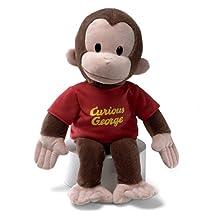 "CURIOUS GEORGE large 16\"" Plush Monkey Toy NEW Gund"