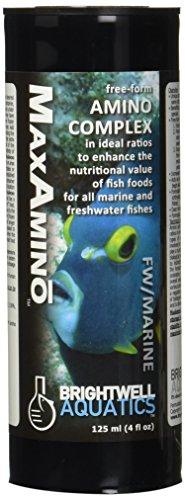 Enhancing Complex - Brightwell Aquatics 4 fl. oz. MaxAmino Free-Form Amino Complex for Enhancing Fish Foods, 125 mL