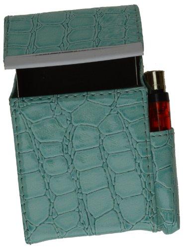 New Case Holder - New Marshal Genuine Cigarette Case Holder#92812 (Croco Baby Blue)
