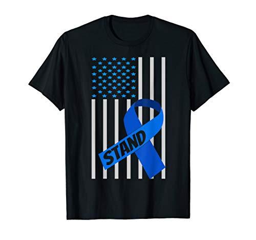 - Child Abuse Awareness Shirts USA Flag Blue Ribbon Shirt
