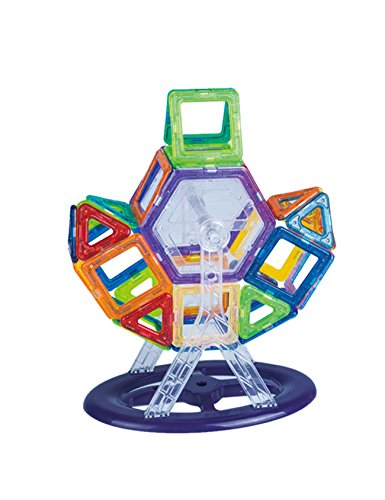i Magnetic Building Blocks Toys Set, Educational Magnet Bricks Tiles Construction Stacking Kit For Kids(Random Colorway) (58 Piece Set)
