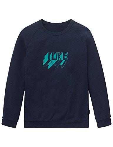 Schiesser Jungen Schlafanzugoberteil Mix&Relax Shirt 1/1, Blau (Nachtblau 804), 176