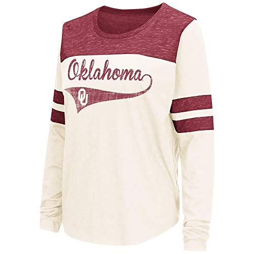 Colosseum Womens Oklahoma Sooners Long Sleeve Tee Shirt - M - Oklahoma Ladies T-shirt