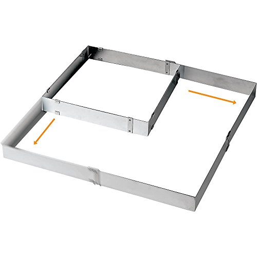 Paderno World Cuisine Adjustable Square Frame Extender (from 11 7/8 Inch square to 22 1/2 Inch square)