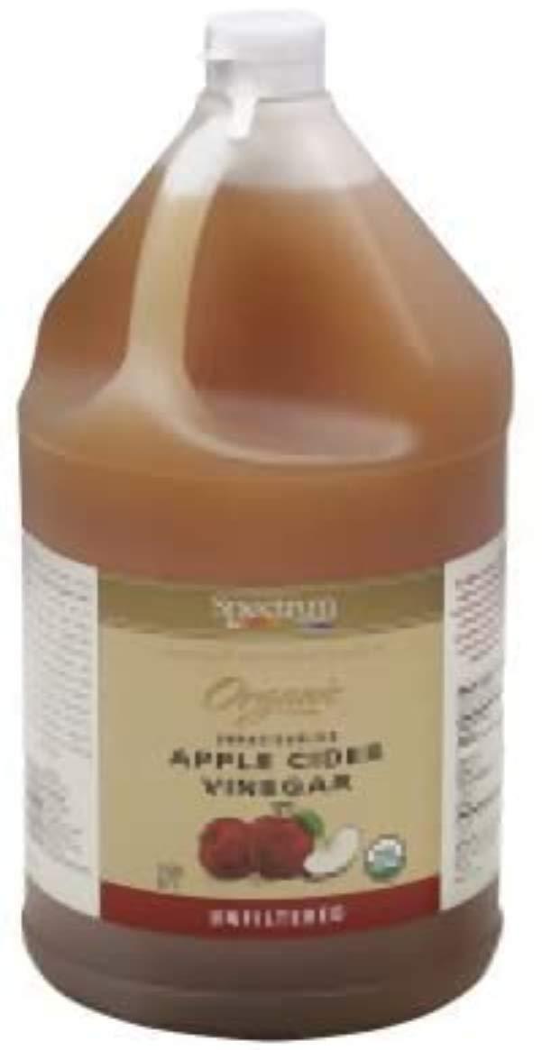 Spectrum Naturals Organic Unfiltered Apple Cider Vinegar, 1 Gallon -- 4 per case.