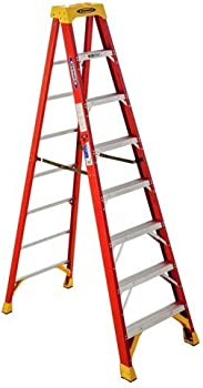 Werner 8-ft Fiberglass 300-lb Type IA Step Ladder