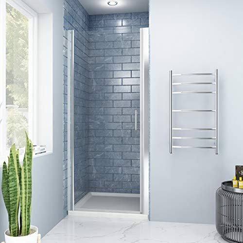 (SUNNY SHOWER FP34 Pivot Swing Shower Door, 32.5