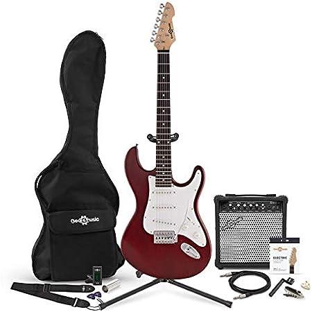 Set Completo de Guitarra Eléctrica LA + Amplificador de 15 W Red