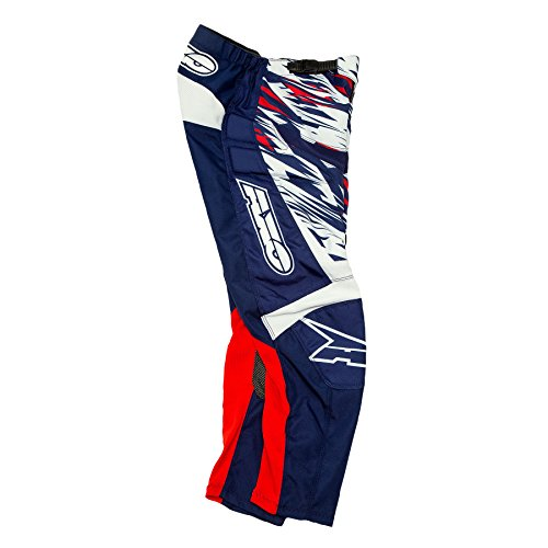 AXO Prodigy Junior Pants (Blue/White/Red, Size 20)