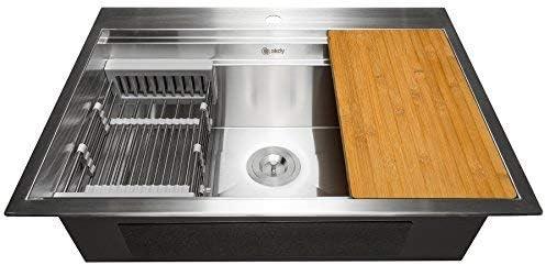 Akdy 33-Inch Deluxe Single Bowl Handmade Kitchen Sink