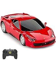 Ferrari Red Remote Control Car, RASTAR 1/24 Ferrari 458 Italia RC Toy Car Vehicle for Kids
