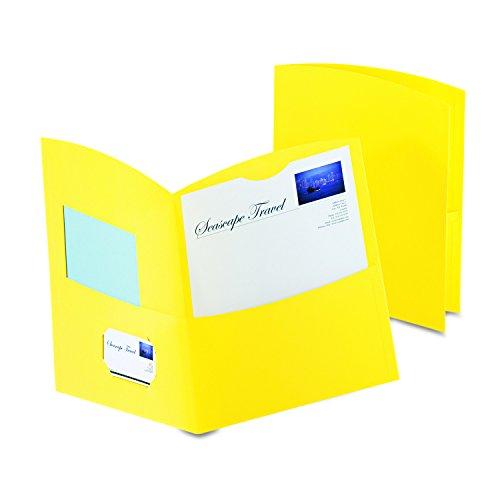 (Oxford Contour Two-Pocket Folders, Yellow, Letter Size, 25 per Box, (5062570))
