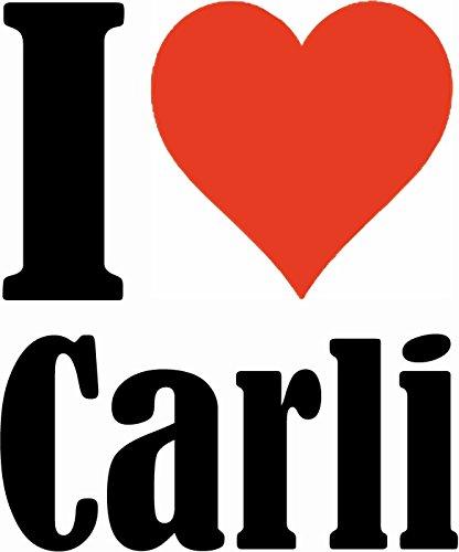 """Handyhülle iPhone 4 / 4S """"I Love Carli"""" Hardcase Schutzhülle Handycover Smart Cover für Apple iPhone … in Weiß … Schlank und schön, das ist unser HardCase. Das Case wird mit einem Klick auf deinem Sma"""