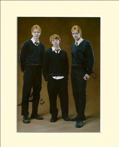 Oliver et James Phelps Harry Potter Weasley Twins Imprim/é Sign/é photo d/édicac/ée avec passe-partout