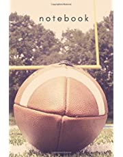 Notebook: Sport: American Football Cover Notebook, Coach Daily Journal, Notebook for Drawing and Writing (110 Pages, Blank, 6 x 9)
