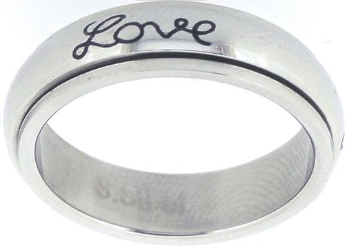 Ring-Faith Hope Love-Spin-Style 321-Size 6