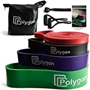 Pull Up Assist Resistance Exercise Bands, Polygon Heavy Duty Assistance Loop Mobility Band, for Body Stretchin