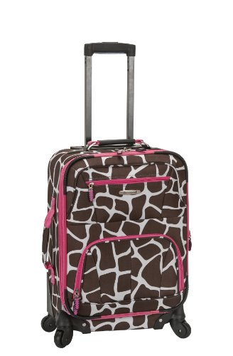 rockland-luggage-19-inch-patterned-expandable-spinner-carry-on-pink-giraffe-one-size
