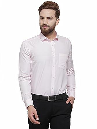 RG DESIGNERS Solid Slim Fit Full Sleeve Cotton Formal Shirt