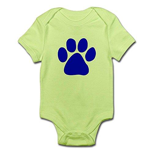 CafePress Paw Print Body Suit - Cute Infant Bodysuit Baby Romper - Blues Clues Blue Romper