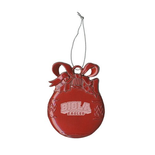 Biola Red Bulb Ornament 'Official Logo Engraved' by CollegeFanGear