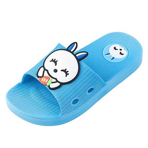 Respctful✿Child Summer Slides Sandal Non Slip Slippers Boys and Girls Summer House Flats Shoes Cute Cartoon Beach Flip-Flops Sky Blue