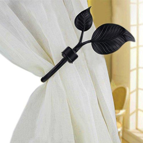 Urn Holdback (YING CHIC YYC 1Pair Window Curtain Holdback Drapery Urn Shaped Wall Hook (C))