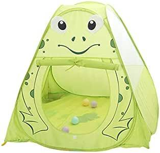 LITIAN Carpa Interior para niños Cartoon Frog Game House Tulle Fun Ball Pool Nest Tienda de Montaje Simple: Amazon.es: Deportes y aire libre