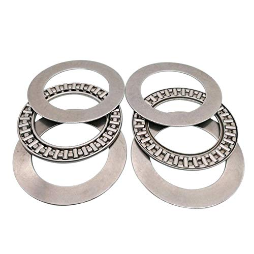 2pcs AXK4060 Thrust Needle Roller Bearing with Two Washers 40 x 60 x 3mm