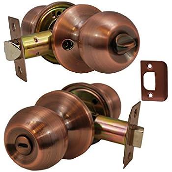 Antique Copper Constructor CON4284 Deadbolt Door Lock Set with Double Cylinder